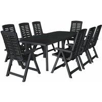 Malaki 8 Seater Dining Set by Grey - Dakota Fields