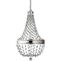 Elstead Lighting - Elstead Malia - 6 Light Chandelier Polished Nickel Finish, E14
