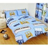 Patch Duvet Set (Single) (Multicoloured) - Manchester City Fc