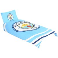 Pulse Single Duvet Set (One Size) (Blue/White) - Manchester City Fc