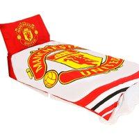 Pulse Duvet Cover Set (Double) (Red/White) - Manchester United Fc