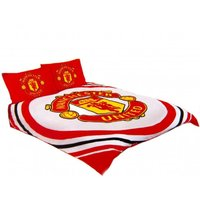 Pulse Duvet Cover Set (Double) (Red/White/Yellow) - Manchester United Fc