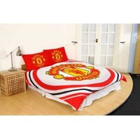 Manchester United FC Pulse Duvet Set (Double) (Red/White/Gold)