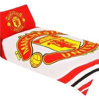 Pulse Single Duvet Set (Single) (Red/White) - Manchester United Fc