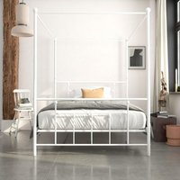 Manila Metal Canopy 4 Poster Bed 4ft6 Double UK 135 x 190 cm