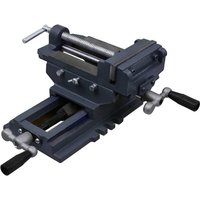 vidaXL Manually Operated Cross Slide Drill Press Vice 127 mm