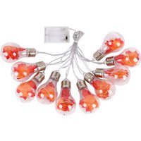 Maple leaf decorative light string with 4 meters and 10 lights, battery type warm light, silver head