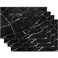 Bearsu - Marble Placemats for Dining Table Waterproof Set of 4 Laether Marble Decor for Kitchen Table Easy to Clean PVC Place Mats for Dinning,Office
