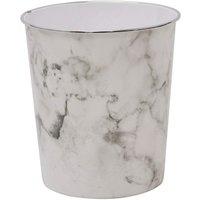 Marble Waste Paper Bin, 24.5cm x 26.5cm approx