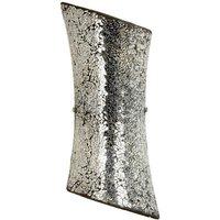 Endon Lighting - Endon Marconi - 2 Light Indoor Wall Light Satin Nickel with Mosaic Mirror Glass, E14