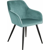 Chair Marilyn with armrests - office chair, desk chair, dining chair - turquoise/black