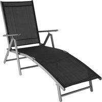 Sun lounger Marisol - garden lounger, garden recliner, reclining sun lounger - dark grey - dunkelgrau - TECTAKE
