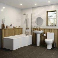 Marseille Bathroom Suite - P Shaped Shower Bath - Right Hand