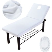 Massage Bed Cover Beauty Salon Couch With Hole Sheet, White