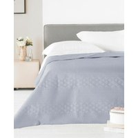 Matte Satin Silver Bedspread - 240x260cm
