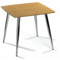 Mazone Kitchen Dining Table Modern And Stylish Chrome Legs Square Top - NETFURNITURE