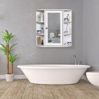Mdf bathroom cabinet with mirror wall door storage cabinet with shelf mohoo