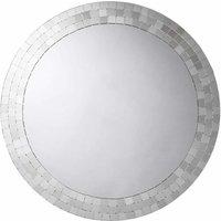 Meadley Circular Bathroom Mirror with Mosaic Surround - Croydex