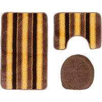 Stripe Bath Mat Set (3 Piece) (One Size) (Venom) - Mediterraneo