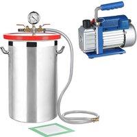 Melko vacuum chamber 27,7L + 50 l/min pump stainless steel vacuum pump air conditioning set ??