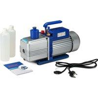 Melko vacuum pump 2-stage vacuum pump air conditioner vacuum pump 10CFM with aluminum alloy housing, silver/blue, 43 x 14.2 x 28 cm