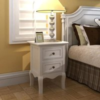 Merlene 2 Drawer Bedside Table by White - Brayden Studio