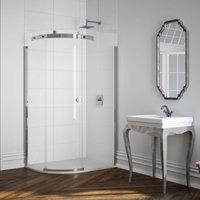 10 Series 1000 X 800 1 Door Offset Quadrant Shower Enclosure Lh - Merlyn