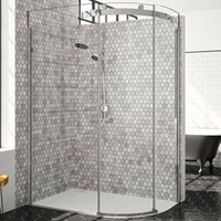 10 Series Single Offset Quadrant Shower Enclosure 1000mm x 800mm RH - Clear Glass - Merlyn