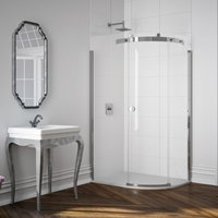 Merlyn 10 Series 1400 X 800 Offset Quadrant Shower Enclosure and Tray Rh