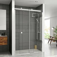 10 Series Sliding Shower Door 1600mm Wide Right Handed - Clear Glass - Merlyn