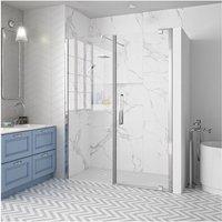 Merlyn 10 Series Inline Pivot Shower Door 1800mm Wide - Clear Glass