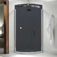 Merlyn 10 Series Single Quadrant Shower Enclosure 900mm x 900mm Right Handed - Smoked Black Glass