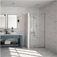 10 Series Pivot Shower Door 900mm Wide - Clear Glass - Merlyn