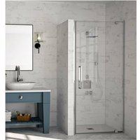 10 Series Pivot Shower Door with Tray 900mm Wide - Clear Glass - Merlyn