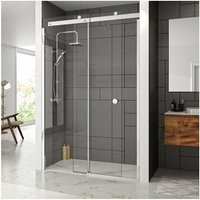 Merlyn 10 Series Sliding Shower Door with Tray 1200mm Wide Left Handed - Clear Glass