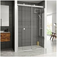 10 Series Sliding Shower Door with Tray 1200mm Wide Right Handed - Clear Glass - Merlyn