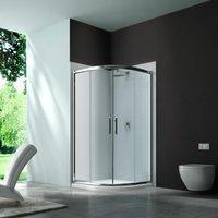 6 Series Quadrant Shower Enclosure 1000mm Wide - Clear Glass - Merlyn