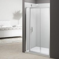 6 Series 1340mm Sliding Shower Door With Inline Panel - Merlyn