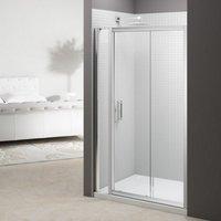 6 Series 1715mm Sliding Shower Door With Inline Panel - Merlyn