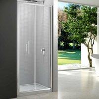 6 Series Bi-Fold Shower Door 1000mm with 1000mm x 800mm Tray - 6mm Glass - Merlyn