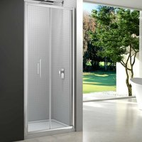 6 Series Bi-Fold Shower Door with Tray 900mm Wide - 6mm Glass - Merlyn