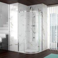 8 Series 1000 X 1000 Frameless Quadrant Shower Enclosure and Tray - Merlyn