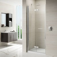 8 Series 1000mm Frameless Hinged Bi Fold Shower Door - Merlyn