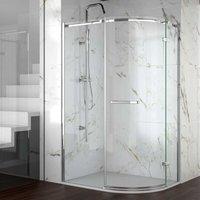 8 Series Frameless Offset Quadrant Shower Enclosure 1200mm x 800mm - 8mm Glass - Merlyn