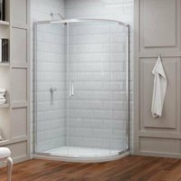 8 Series Offset Quadrant Shower Enclosure 1200mm x 800mm - Clear Glass - Merlyn