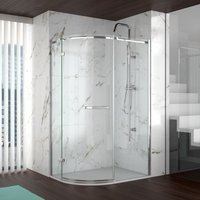 8 Series 1200x900 Offset Quadrant Shower Enclosure With Tray Lh - Merlyn
