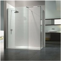 8 Series Walk-In Enclosure with End Panel, 1400mm x 800mm, Clear Glass - Merlyn