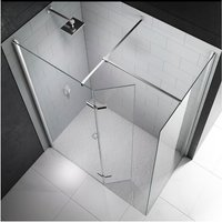 8 Series Hinged Walk-In Shower Enclosure, 1400mm x 900mm, 8mm Glass - Merlyn