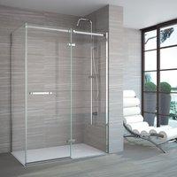 Merlyn 8 Series 1400mm Plus Hinged Shower Door and Inline Panel