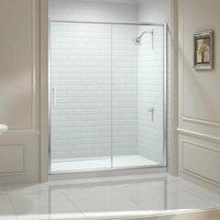 8 Series Sliding Shower Door 1400mm Wide - Clear Glass - Merlyn